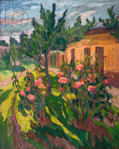 Roses in my Forecourt, 2012 (oil on board)