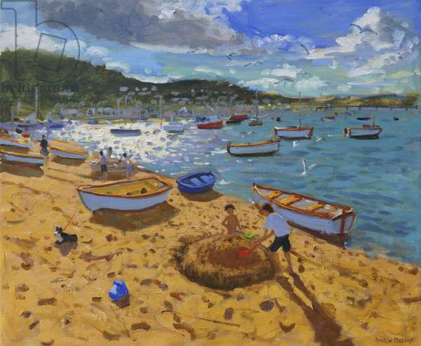Large sandcastle,Teignmouth,2013,(oil on canvas)