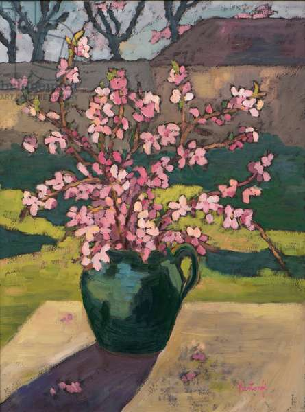 Apricot Flower, 2013 (oil on board)