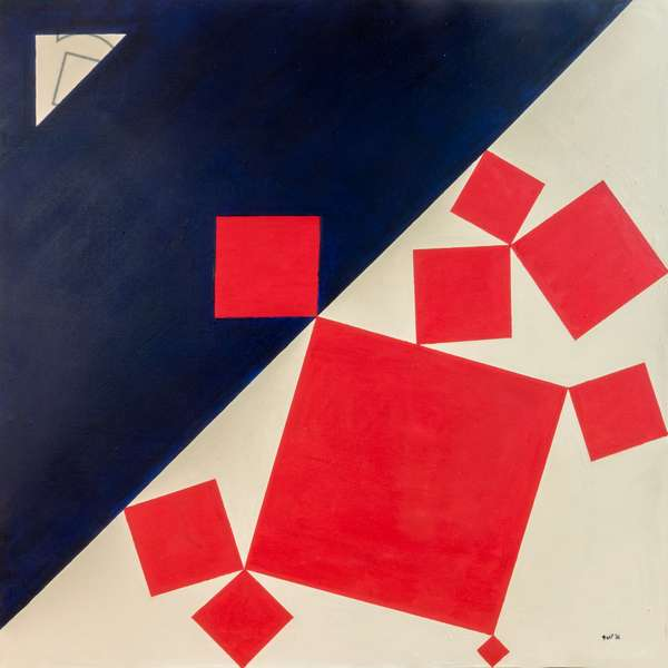Suprematist Bachus and Ariadne after Titian