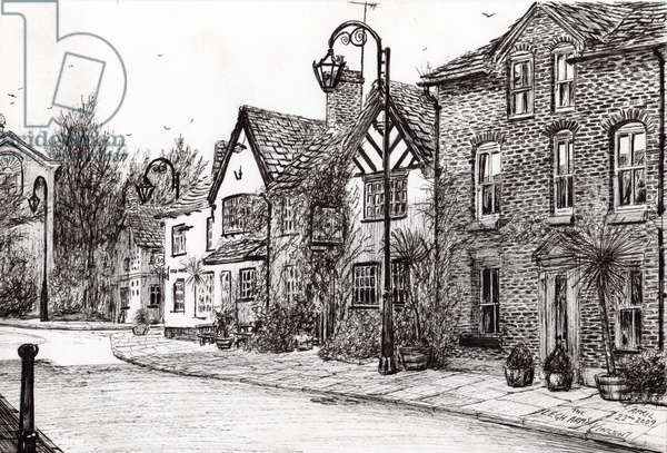 Leigh Arms Prestbury, 2009, (ink on paper)