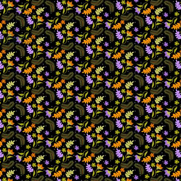 Night Leaves pattern