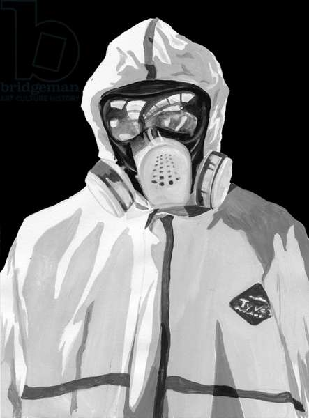 Protective clothing,2014,(Acrylic paint on paper,Photoshop)