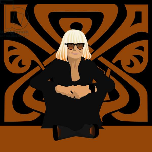 Portrait of Barbara Hulanicki, fashion designer, founder of Biba, interior designer and illustrator