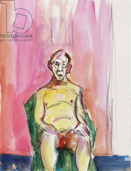 Male Nude, 2015, (watercolour)