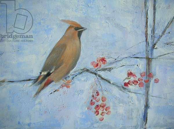 Waxwing (detail)