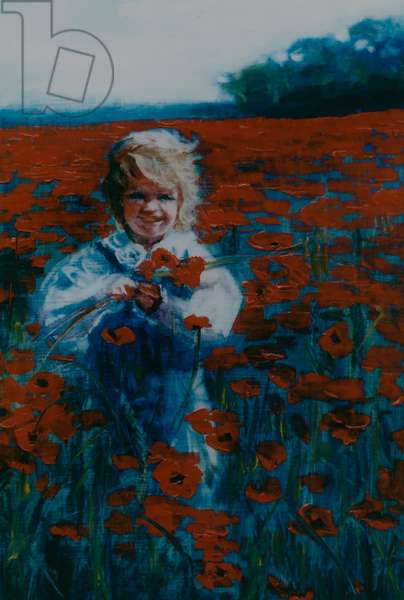 Poppies, 2000 (oil on paper)