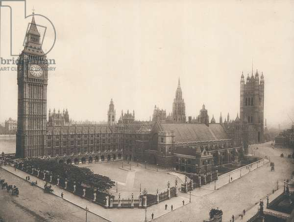 The Houses of Parliament and Big Ben, London, c 1900 (photo)