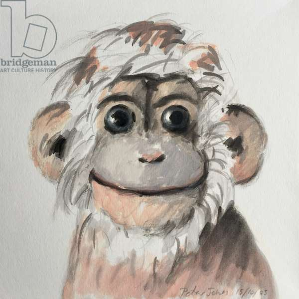 Happy Monkey, 2005, (oil on paper)