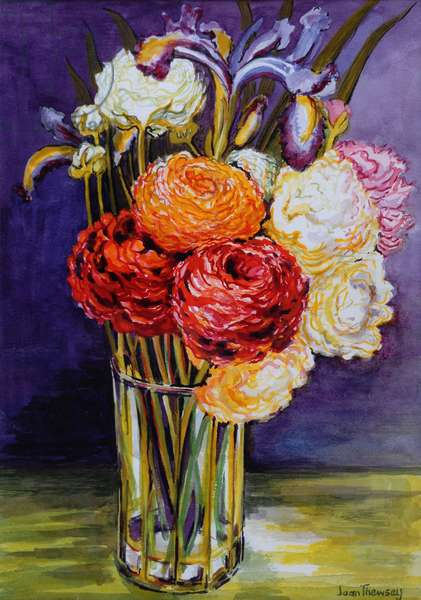 Ranunculus in a Glass 2000 (w/c on paper)