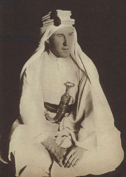 T E Lawrence, British soldier in the Middle East during the First World War (b/w photo)