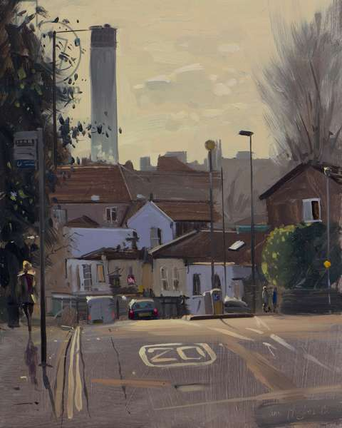 Cotham Brow, contre jour, January