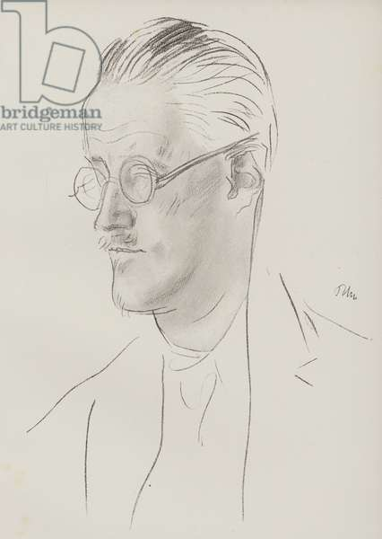 James Joyce, Irish novelist and poet (pencil)