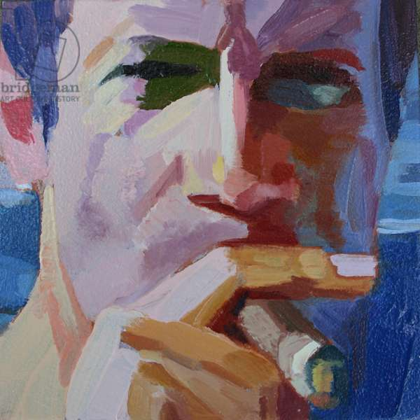 'Face 20', 2012, (oil on primed aluminium)