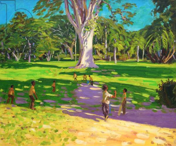 Cricket match,Botanical Gardens,Dominica,Grenadines.2011,(oil on canvas)