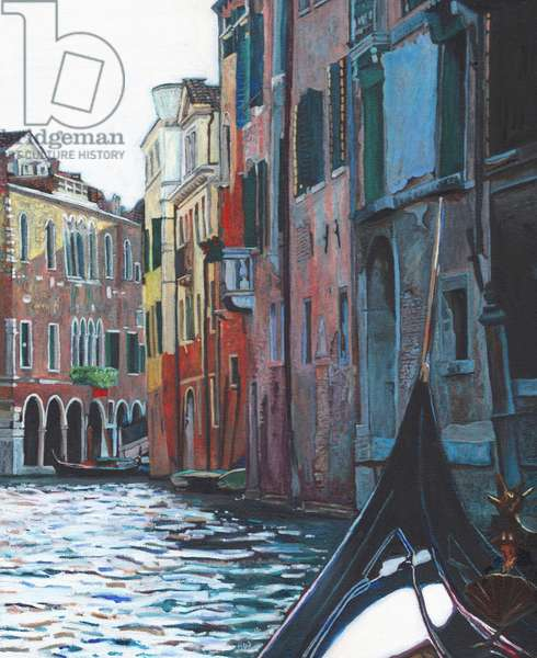 Venetian backwater, 2012, (oil on canvas)