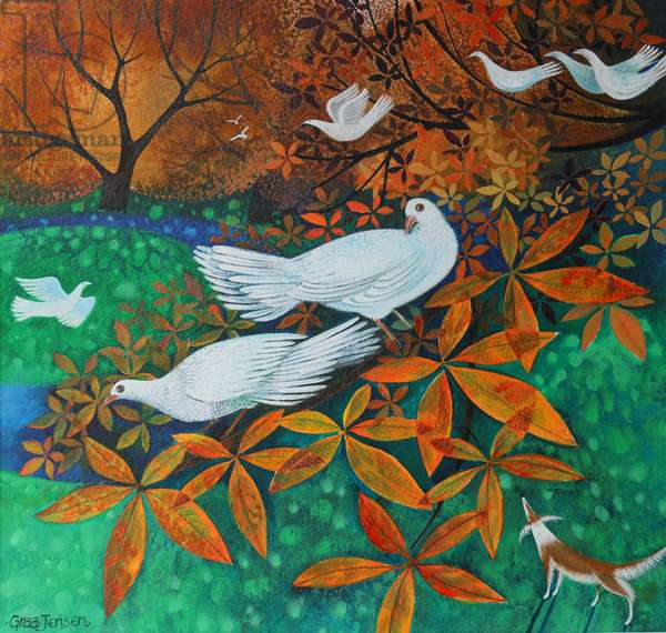 White Doves, 2016 (mixed media)