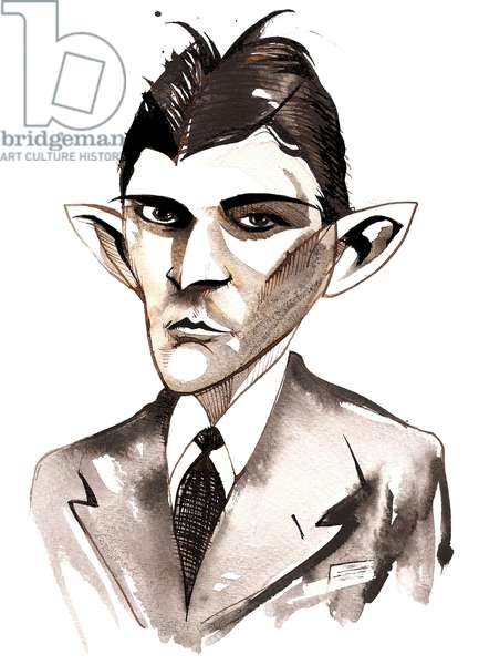 Franz Kafka (Czech writer, 1883-1924) caricature