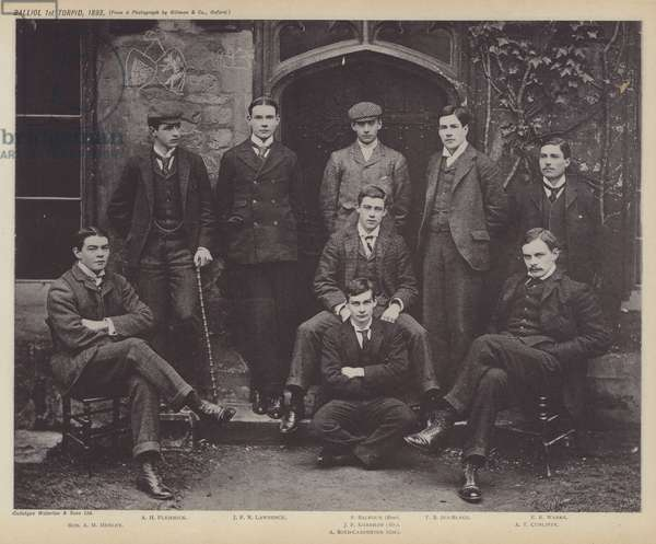 Balliol 1st Torpid, 1893 (b/w photo)