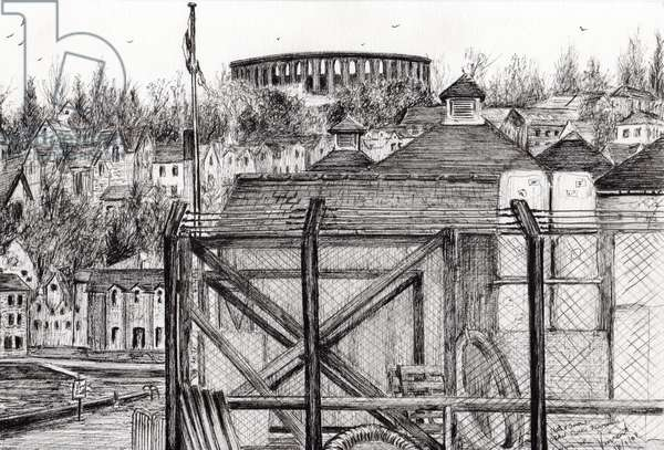 Oban Scotland, 2007, (ink on paper)