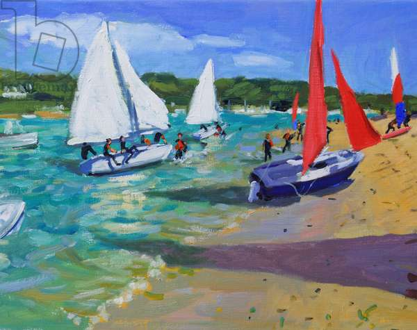 Sailing Boats ,Salcombe,(oil on canvas)