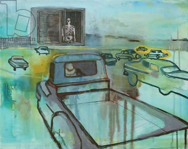 Drive-in, 2014, (acrylic on canvas)