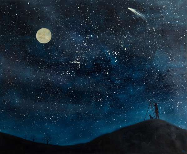 Star Struck, 2012-13 (oil on linen)