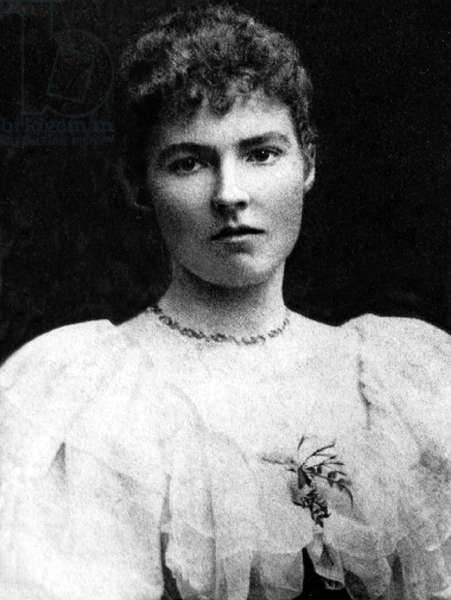 England / UK: Gertrude Bell (1868-1926) as a young woman, c. 1888