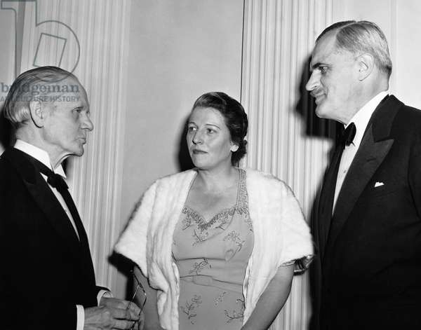 Nobel Prize Winners, Sir Norman Angell, Pearl Buck and Arthur Holly Compton, New York, 10th December 1942 (b/w photo)