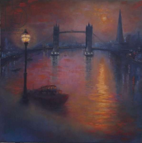 Thames Nocturne, 2005 (oil on canvas)