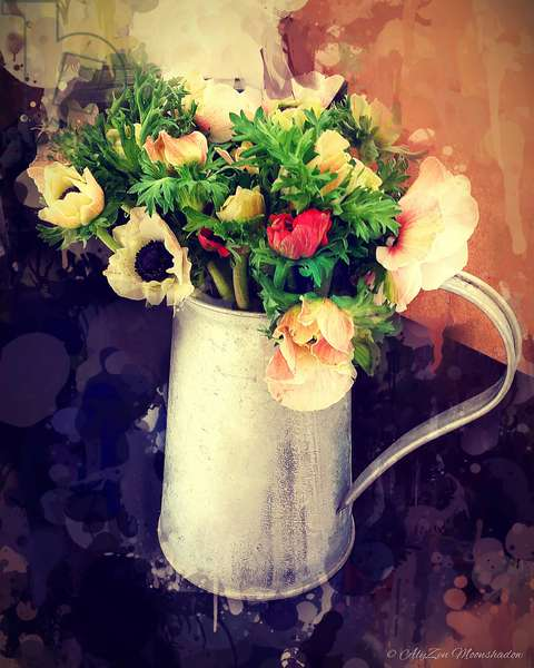 Anemones in Jug, 2014, (digital mixed media phoneography)