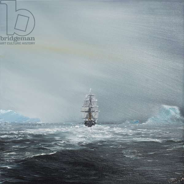 Discovery en route to Antarctica, 2014, (oil on canvas)