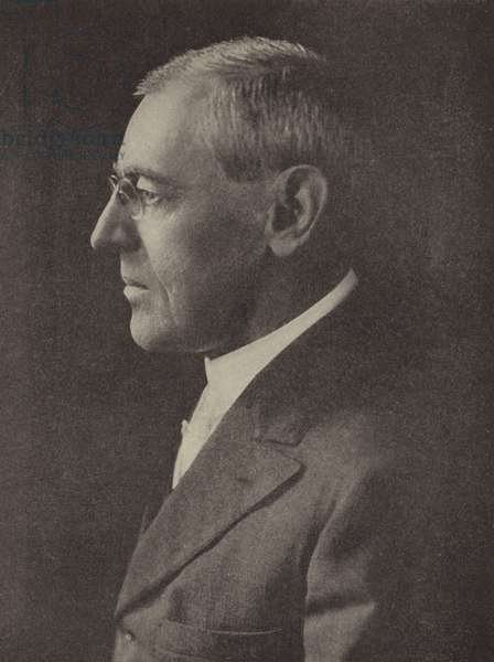 Woodrow Wilson, 28th President of the United States (b/w photo)