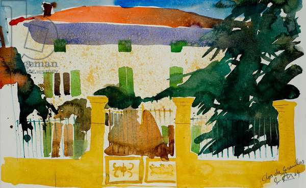 Clos de Gravillas, 2004, (watercolour)