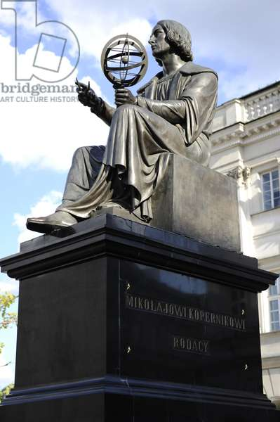 Statue of Nicolaus Copernicus (1473-1543) by Thorvaldsen (1770-1844). Warsaw.
