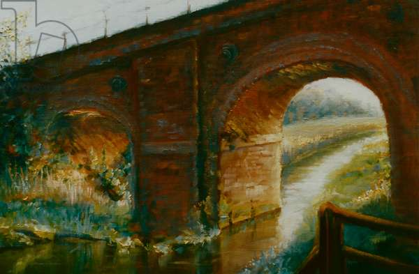 Railway Arches, 1997 (oil on paper)