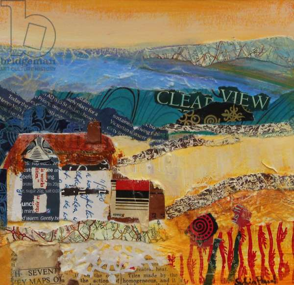 A Clear View 2013, acrylic/paper collage