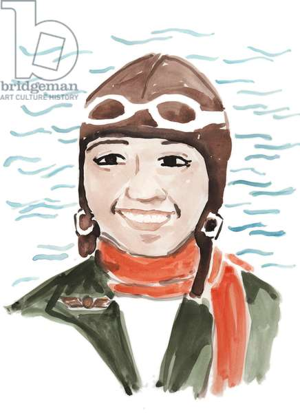 Bessie Coleman, 201 (watercolor)