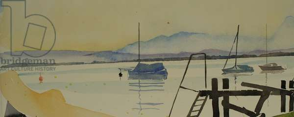 Alpine lake, 2001 (watercolour)