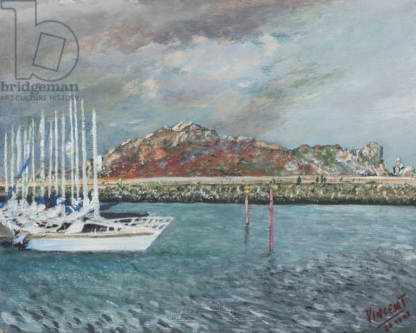 Howth, Ireland, 2001,  (acylic on canvas board)