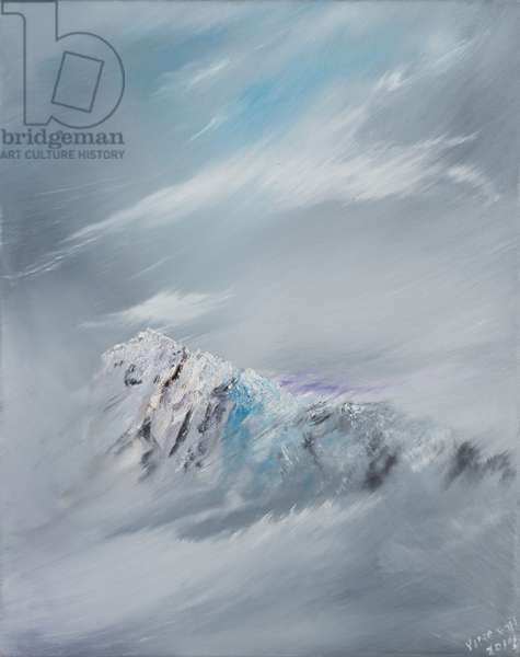 Snowdon 1, 2014, (oil on canvas)