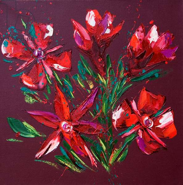 Flower, 2010, (oil on canvas)