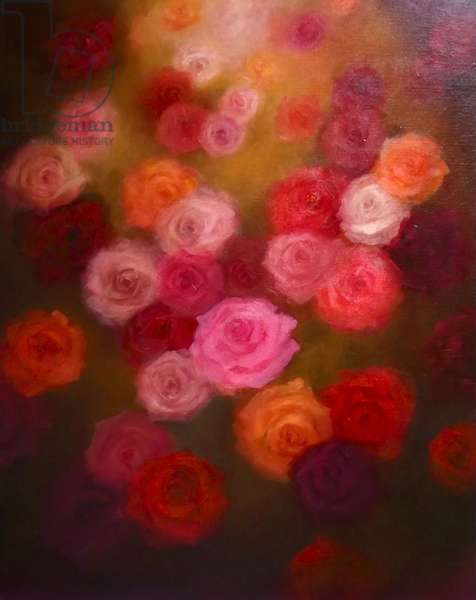 Memories 2014 (oil on canvas) Flowers, roses