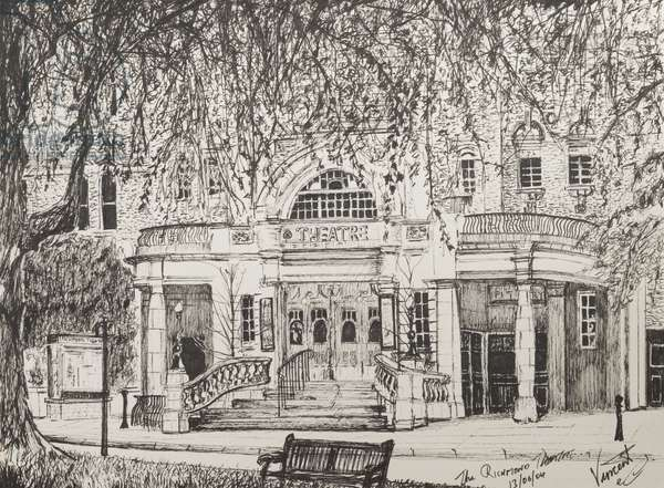 Richmond Theatre, London, UK, 2004,  (ink on Paper)