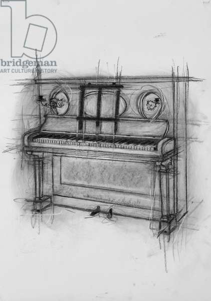 Piano,2005 (charcoal on paper)