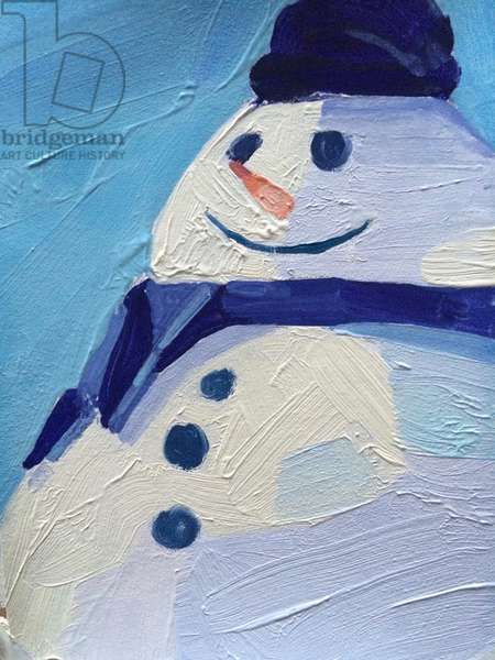Snowman, 2015, (oil on paper)