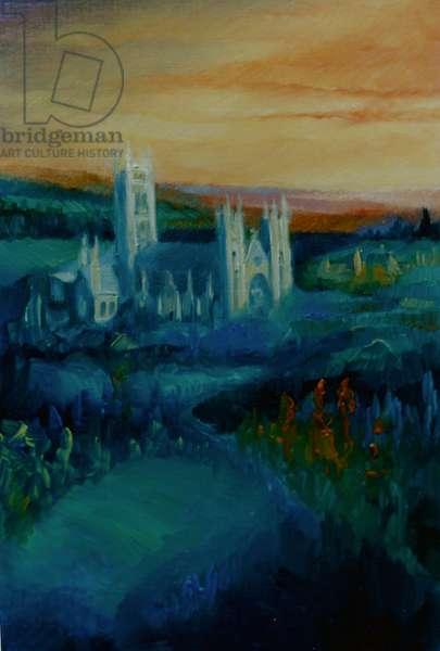 Canterbury Cathedral, 2000 (oil on paper)