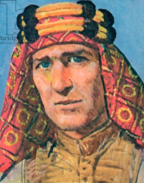 Lawrence of Arabia (colour litho)