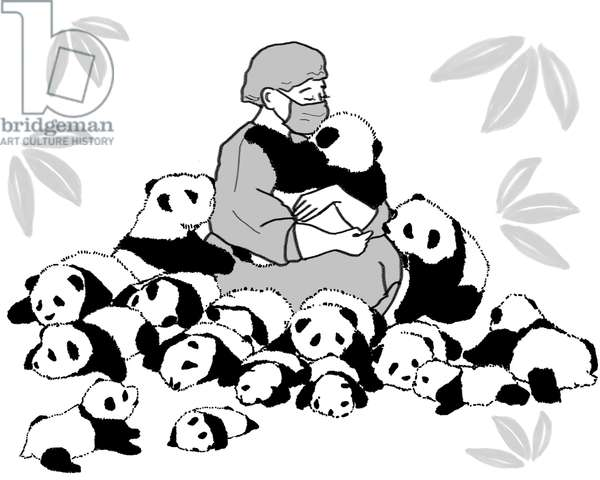 Panda keeper,2017,(Photoshop)