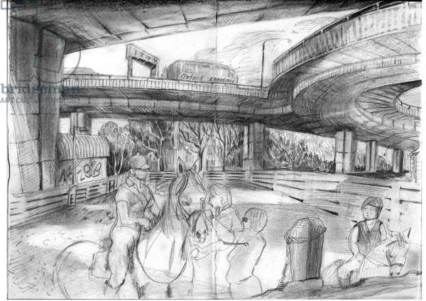 Horseriding under the Westway